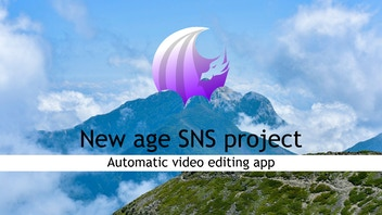 New age SNS project Automatic video editing app