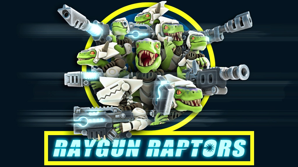 Raygun Raptors: Army of 3D Printable Sci-Fi Miniatures project video thumbnail
