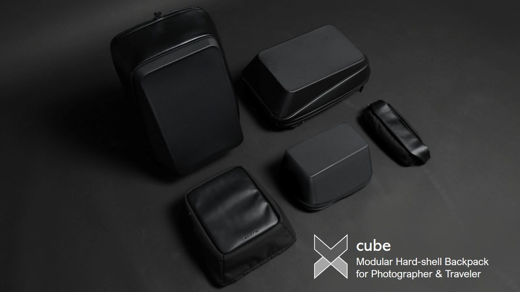 Xcube:Modular Hardshell Backpack for Photographer & Traveler