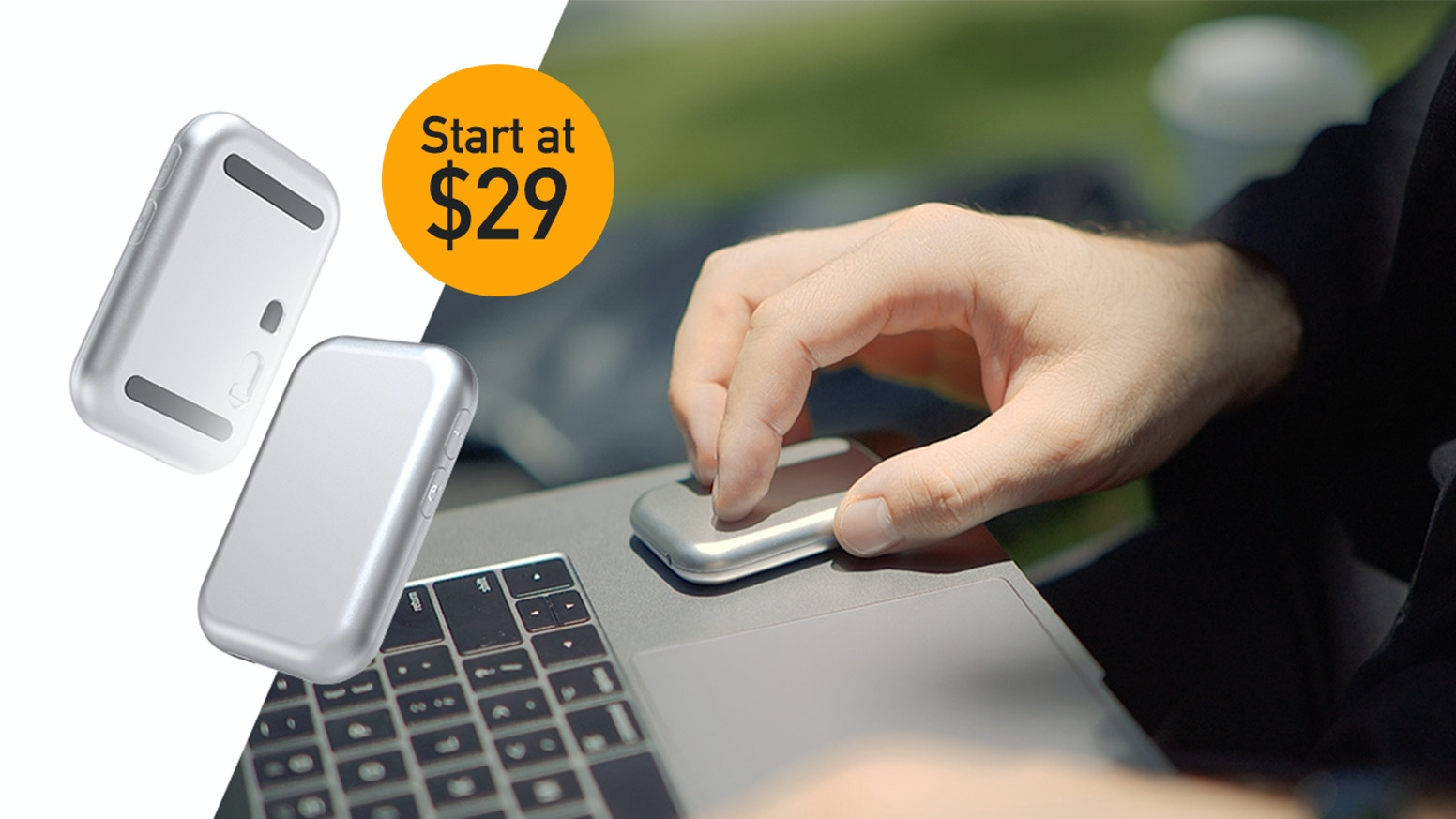 Full-function mouse, touchpad and presenter for Mac, Windows, iPad, Tablet, Smartphone and Smart TV.