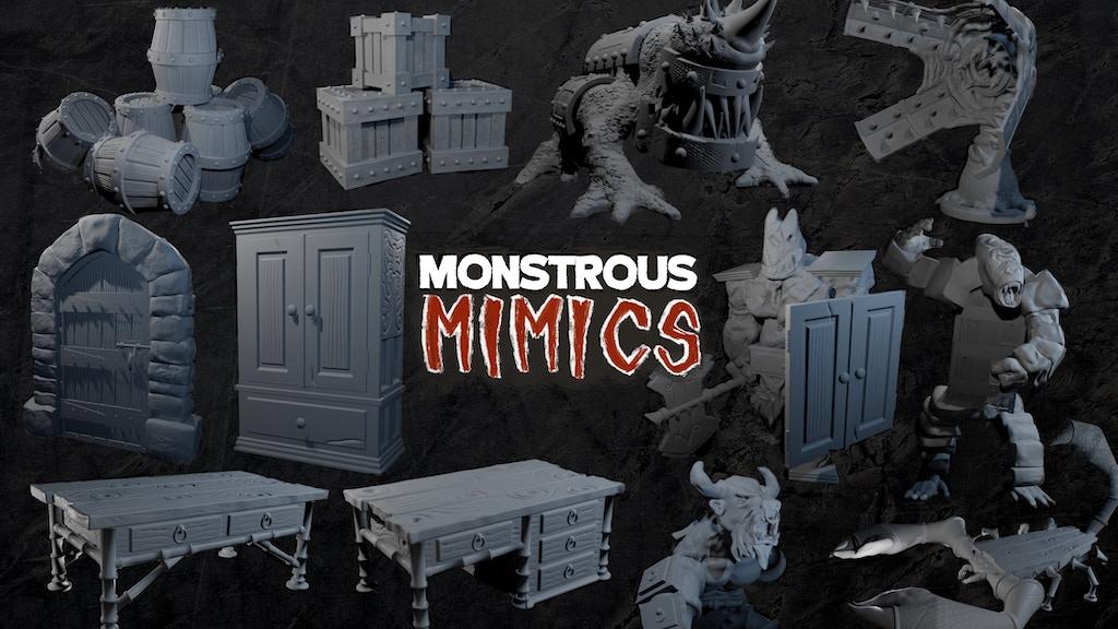 Project image for Monstrous Mimics: 3D Printable Miniatures