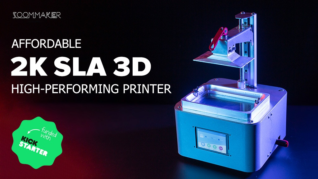 ZoomMaker: Affordable 2K SLA 3D High-Performing Printer