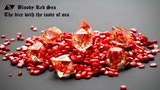 """Bloody red sea"" transparent dices with red coral core thumbnail"