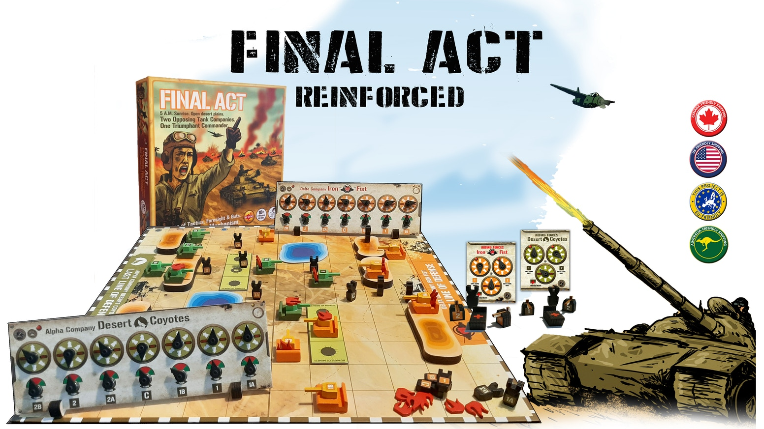 Lead a tank company into battle.  Plan, maneuver, fire! Fast pace tactics - simultaneous play - easy rules tough decisions.