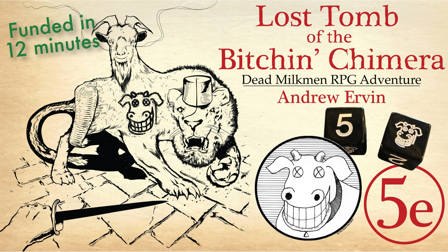 An official Dead Milkmen themed RPG module by Andrew Ervin. 5e compatible and system-neutral.