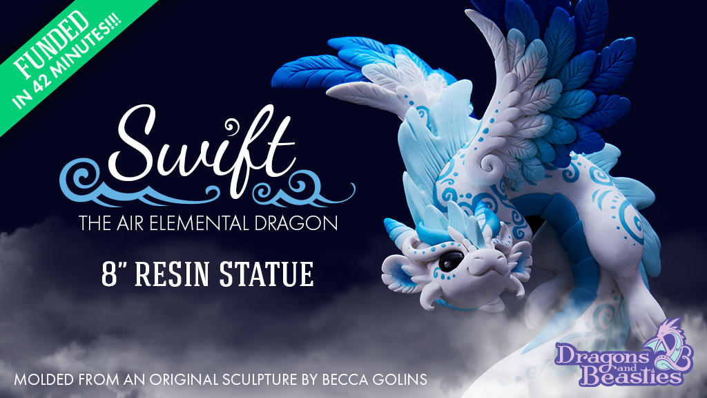 "8"" Swift Dragon Resin Statue by Dragons and Beasties project video thumbnail"