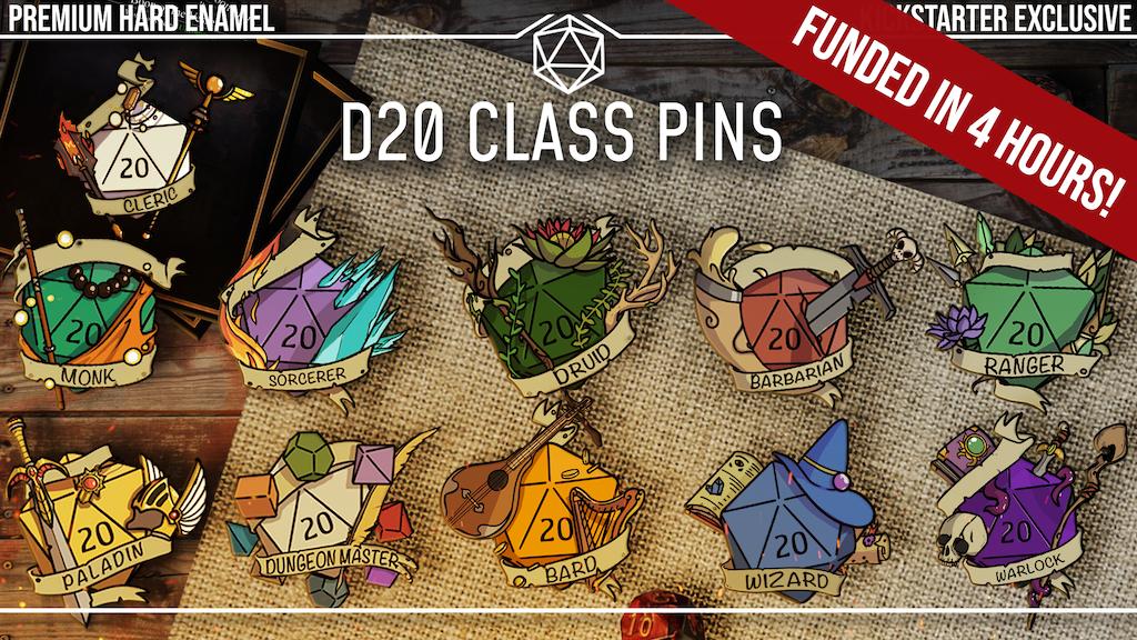 Project image for D&D D20 Class Pins