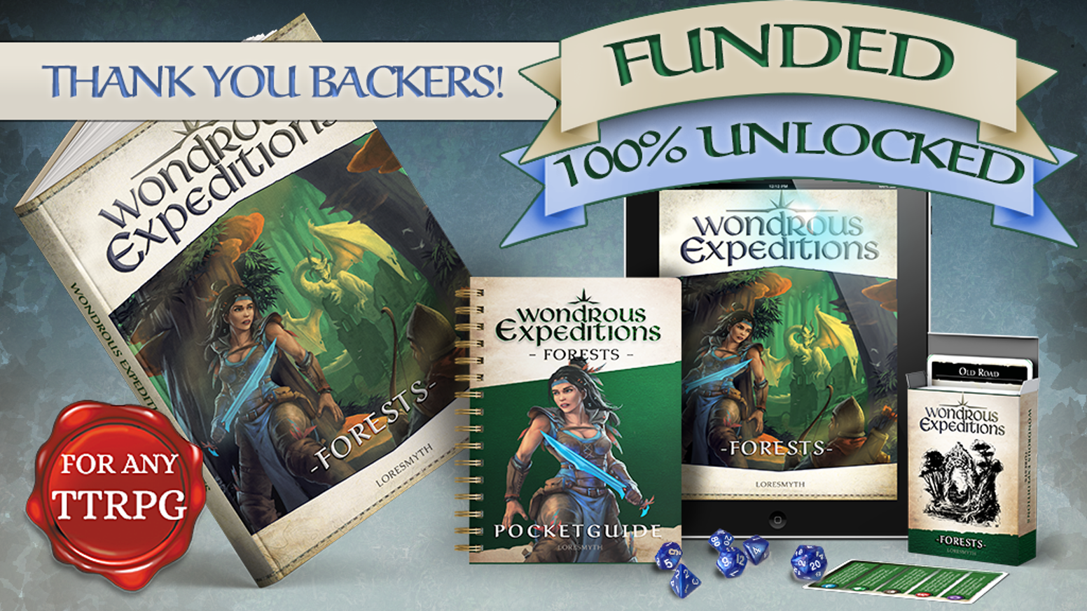 Make wilderness journeys just as exciting as the destination with this worldbuilding book for GMs - For any fantasy roleplaying game.