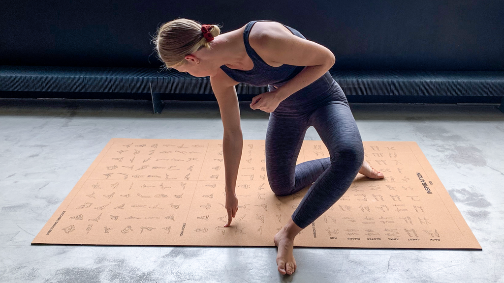 INSPIRATION ™ - The oversized & instructional mat.