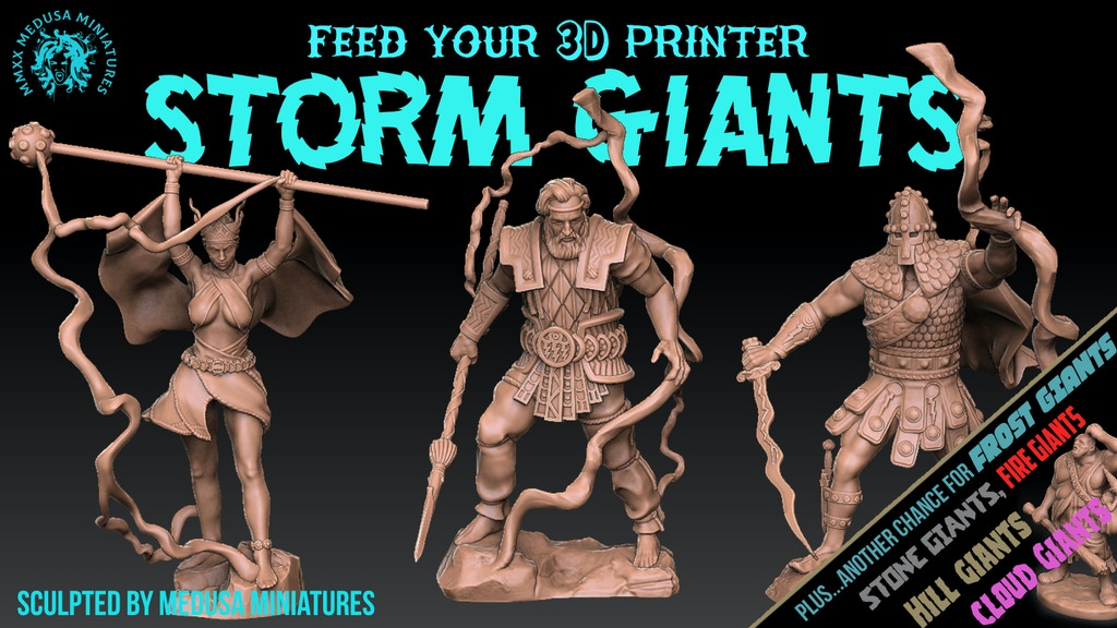Project image for 3d printable STORM GIANTS sculpted by Medusa Minis 7 DAYS!