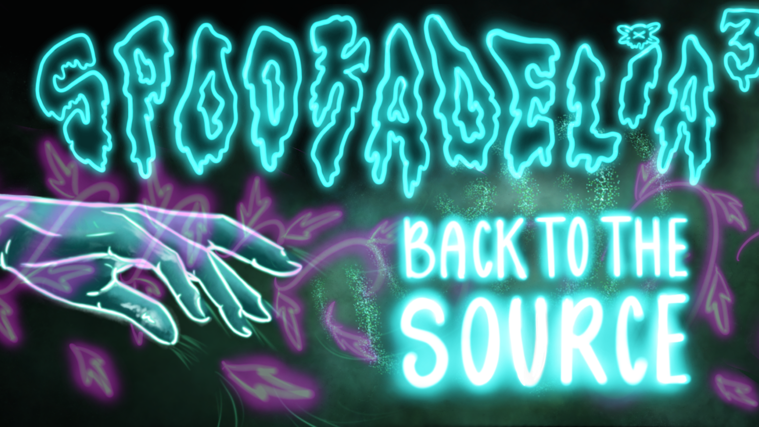 Spookadelia 3: Back to the Source is a psychedelic immersive art and theatrical experience presented by Spectra Art Space.