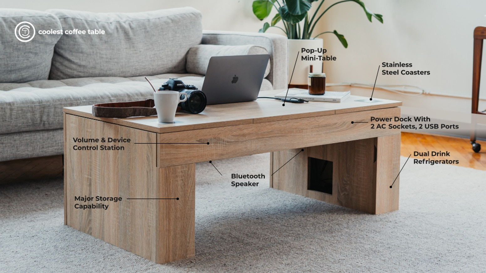 A Beautiful, Built-To-Last Coffee Table… With a Secret.