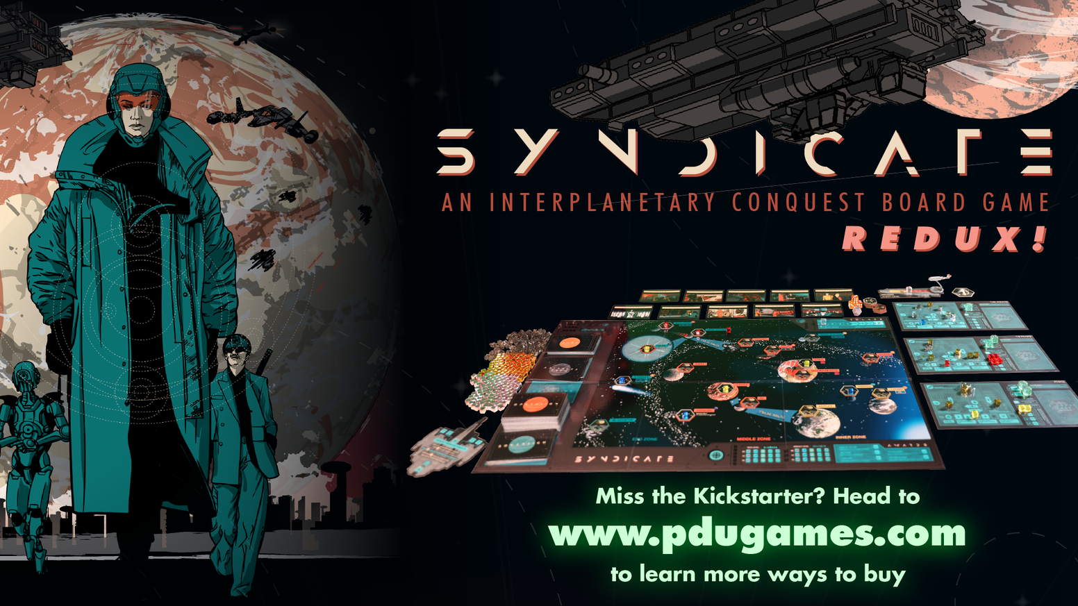 Build the most formidable interplanetary criminal empire in this new thematic sci-fi board game.