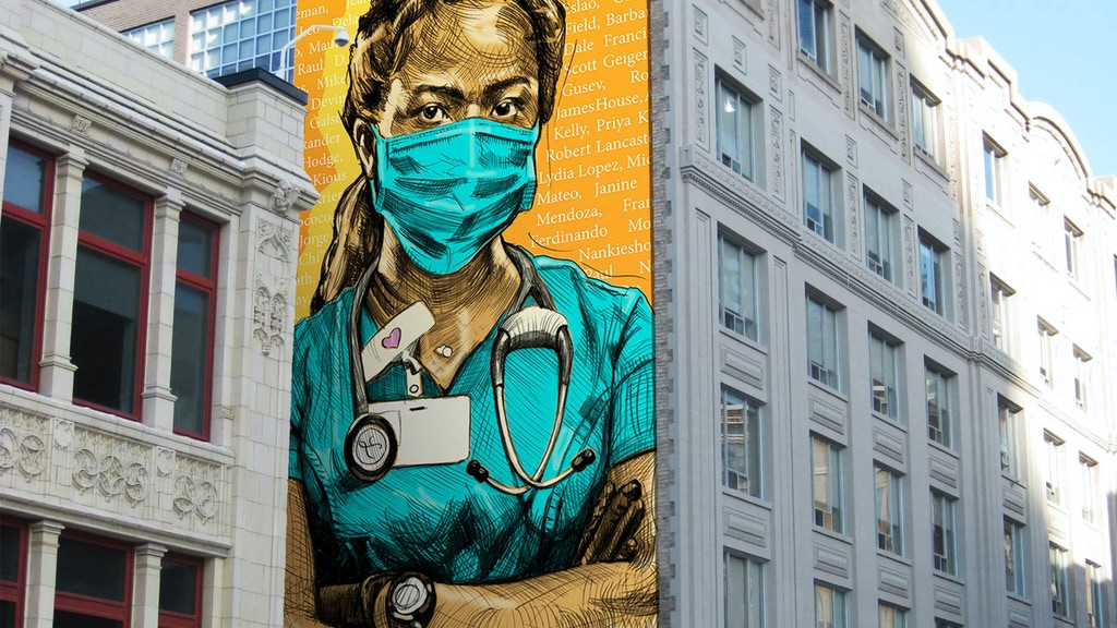 DEAR FRONTLINE Honoring Essential Workers with Public Art project video thumbnail