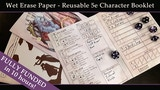 Reusable (Wet Erase) 5e Character Book ver 3 thumbnail