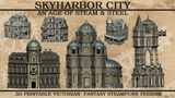 Skyharbor: 3D Printable Victorian-Steampunk Fantasy STL thumbnail