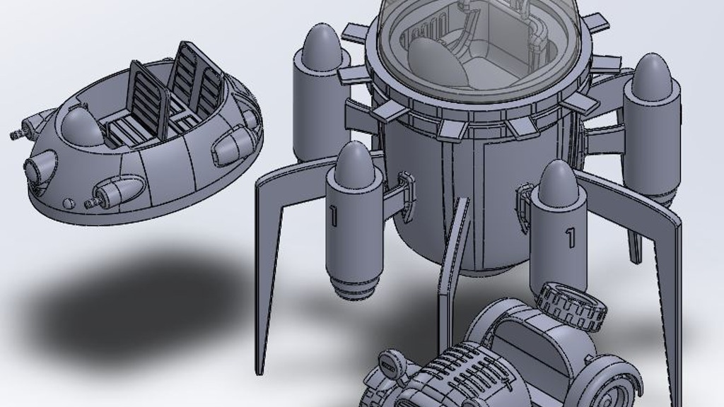 Project image for Spaceship, off-road , hoover vehicles STL Files 3d printer.