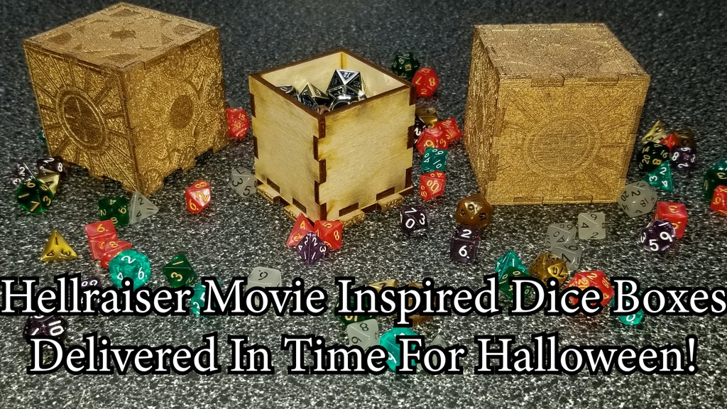 Hellraiser inspired dice boxes project video thumbnail