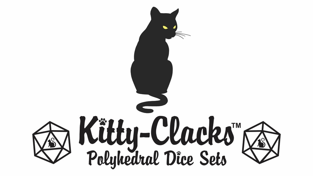 Project image for Kitty-Clacks Cat Themed Polyhedral Dice Sets
