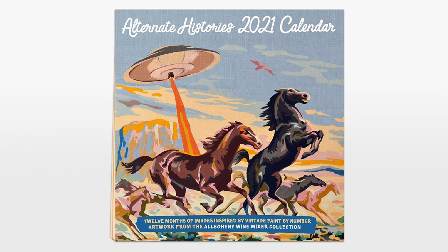 A monstrously fun calendar for 2021 inspired by vintage Paint by Numbers.