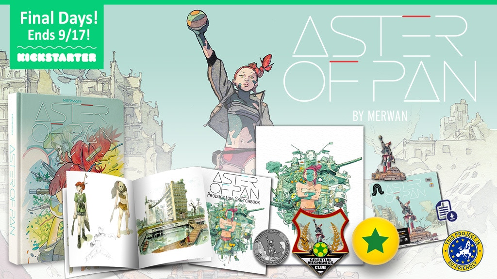 ASTER OF PAN: a post-apocalyptic graphic novel by Merwan project video thumbnail