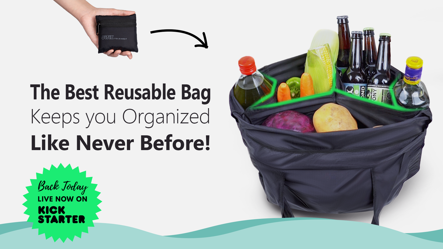 Super-strong, Super-smart, Super-low profile. It's a day bag, an organizer, a grocery bag, and a knapsack all in one.