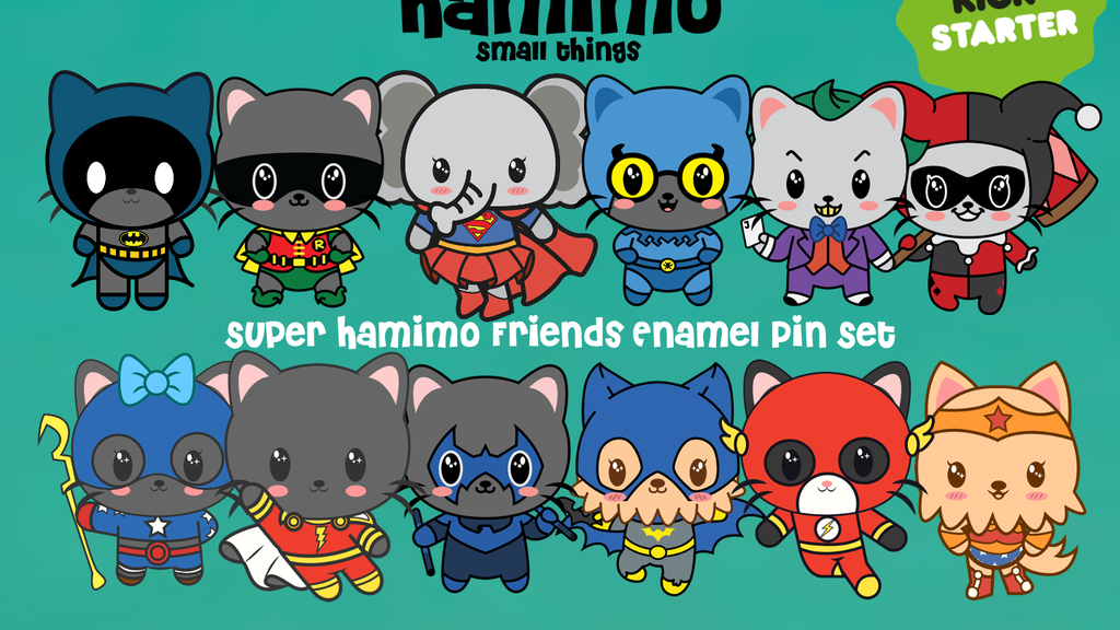 Project image for Super Hamimo Friends Enamel Pin Collection
