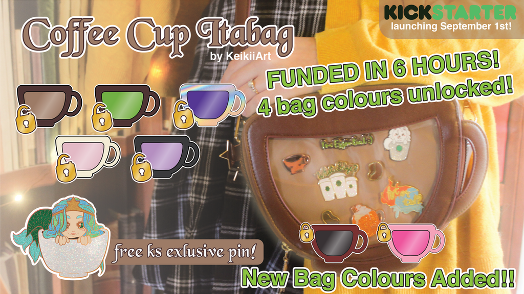 KeikiiArt's Coffee Cup & Tea Cup Ita Bags project video thumbnail