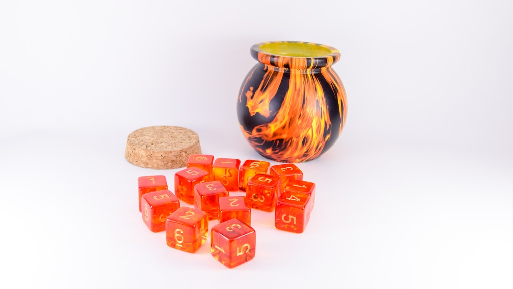 Amazing Fireball Dice Jar & custom, exclusive Fire Dice!
