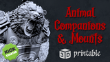 Animal Companions and Mounts - 3D Printable STL Miniatures thumbnail