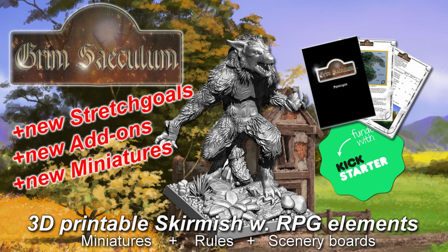 3D printable (STL Files) miniatures, scenery an many more. Many Stuff for all wargamer & tabletop gamer. +++NEW Updated Version+++