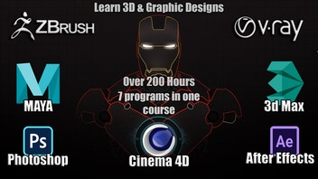 Learn 3D & Graphic Designs from Beginning to Advanced Levels