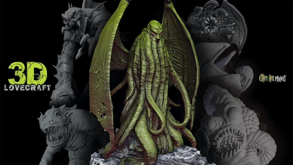 Project image for 3D Lovecraft Collection: Cthulhu STL & Physical Miniatures