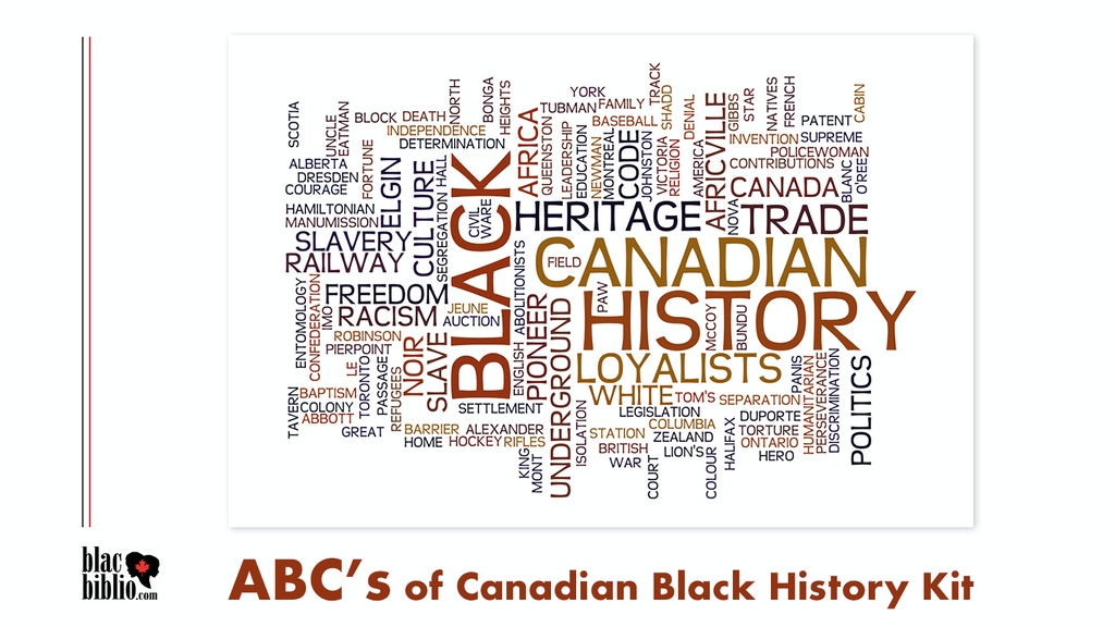 Project image for Bring ABC's of Canadian Black History Kit ONLINE