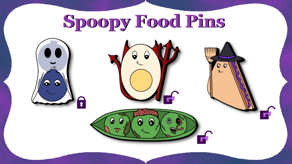Spoopy Food Enamel Pins project video thumbnail