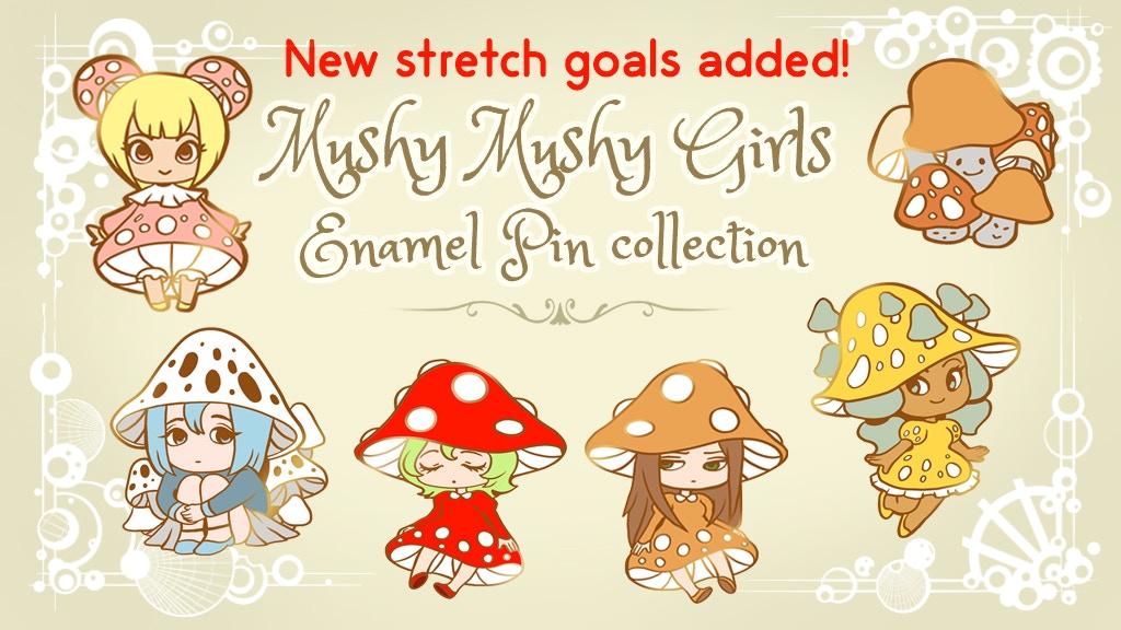 Project image for Mushy Mushy girls enamel pin collection