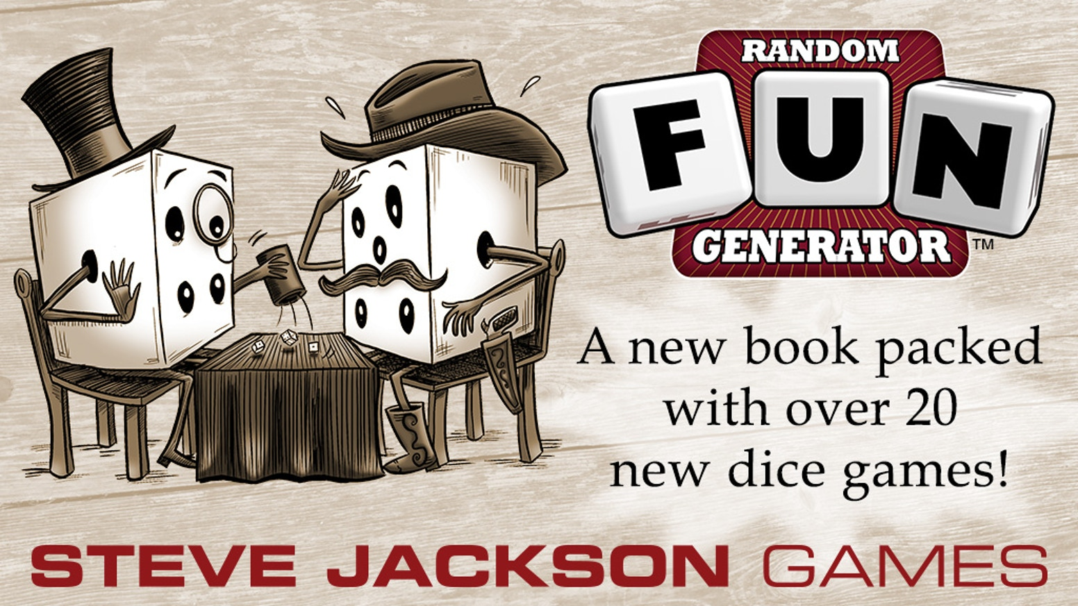 A collection of over twenty dice games from Steve Jackson Games! Use any existing six-sided dice, or play using our many custom dice!!!