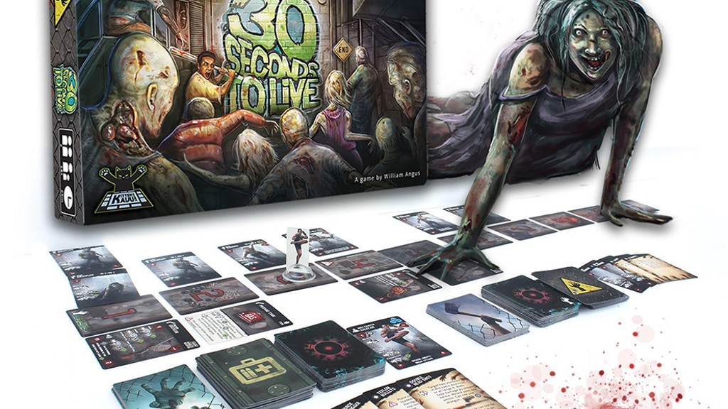 30 Seconds to Live - 1-2 player competitive zombie card game project video thumbnail