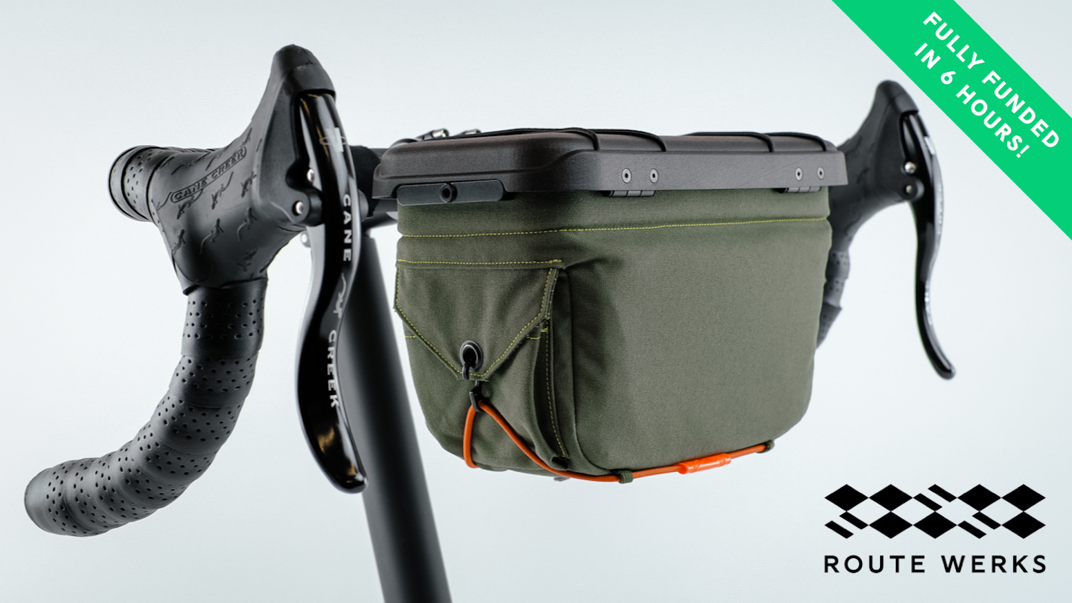 A minimal and modern bicycle bag that puts your tech at your fingertips and looks great on your bike!