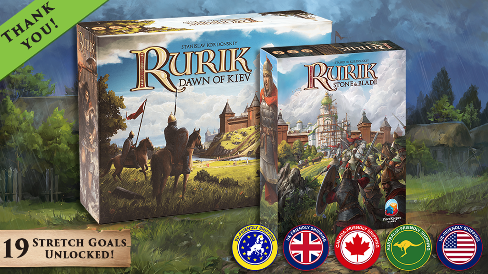 Seize your destiny and claim the throne! The first expansion to the critically acclaimed euro-style board game, Rurik: Dawn of Kiev.