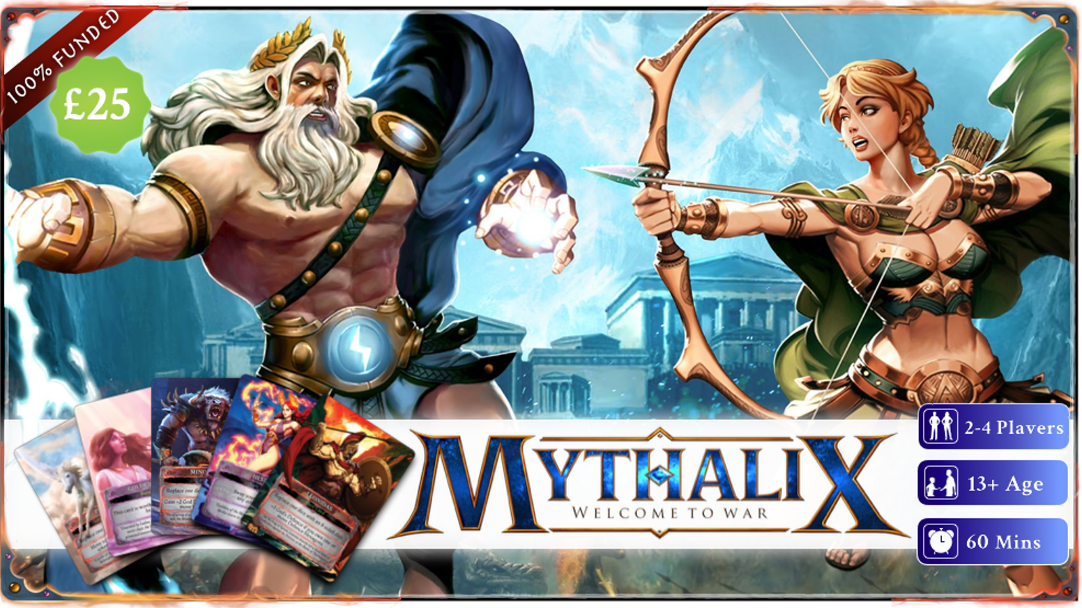Gods and Titans clash in a new world. Build your deck, control areas & battle opponents in this light strategy board game.If you missed the campaign you can join our late Pledge Manager by clicking the button below.