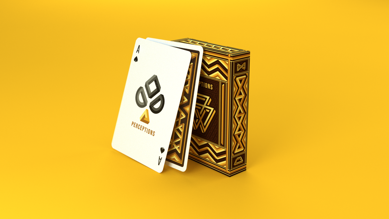 Custom playing cards featuring impossible geometry, inspired by the works of M.C. Escher. Printed by the USPCC.