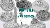More than 100 STLs to base your miniatures! thumbnail