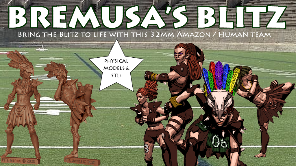 Project image for Bremusa's Blitz; Amazon Angels Blood Bowl Team
