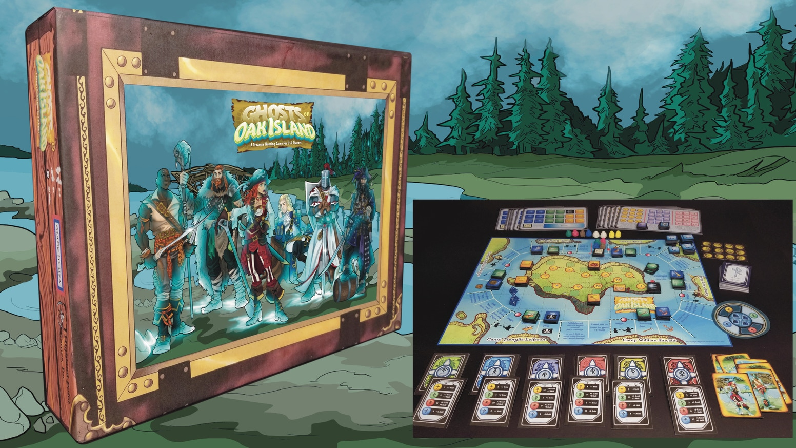 """An exciting board game for 2 to 6 players. Outwit and out speed other pirates & overcome various perils to get the treasure! Make """"Additional"""" pledges and get your game for December 2020 delivery (in time for the holidays) click on """"Follow along"""" button"""