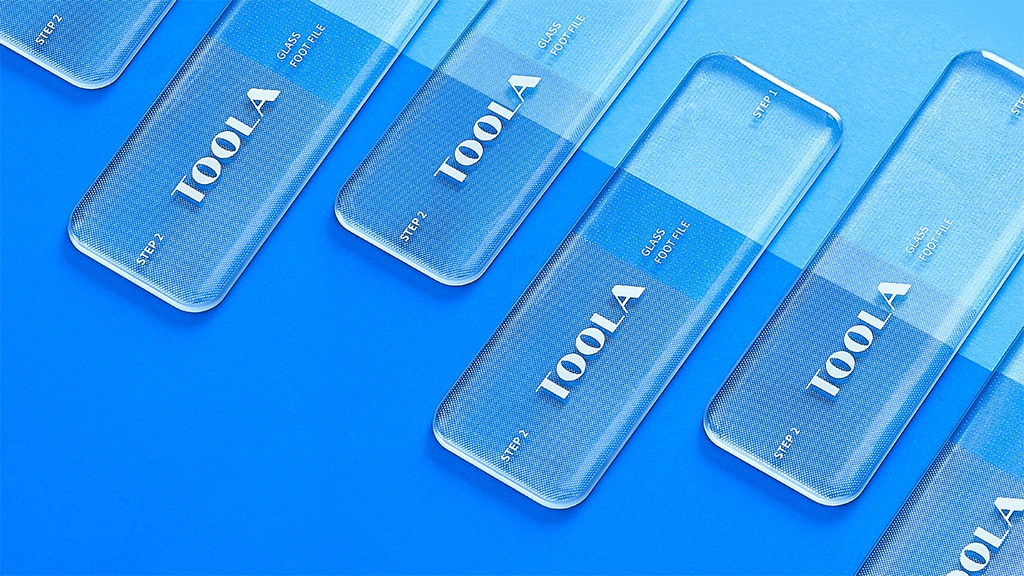 'TOOLA', a Non-Irritant 2-Step Total Foot Care Glass File