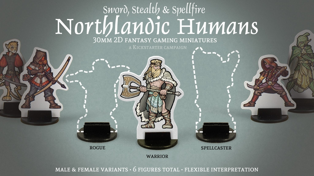 Project image for Northlandic Humans 30mm 2D Fantasy Gaming Miniatures