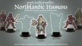Northlandic Humans 30mm 2D Fantasy Gaming Miniatures thumbnail