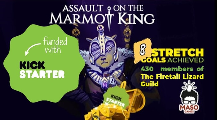 Assault on the Marmot King is a flip-and-write game, in PnP format,of square puzzle, patterns and road building.