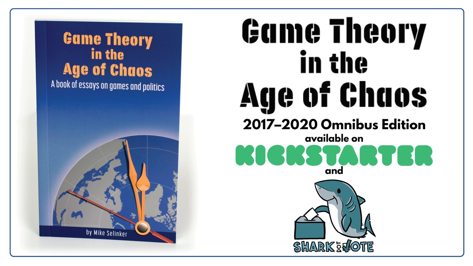 The massive omnibus edition of Mike Selinker's book Game Theory in the Age of Chaos, sent to you and Congress.
